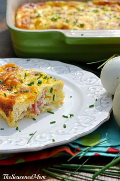 Baked Ham and Cheese Omelet - (Free Recipe below) Paleo Breakfast, Breakfast Dishes, Breakfast Recipes, Breakfast Casserole, Breakfast Ideas, Breakfast Scones, Breakfast Bake, Morning Breakfast, Brunch Ideas