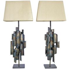 Pair of Fantoni Brutalist Raymor Mid Century Modern Lamps | From a unique collection of antique and modern table lamps at http://www.1stdibs.com/furniture/lighting/table-lamps/
