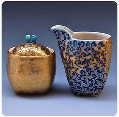 Julia Galloway cream and sugar  #ceramics #pottery
