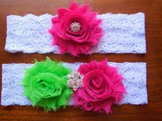 Garter Garter Set Wedding Garter Fuchsia by BloomsandBlessings, $18.00