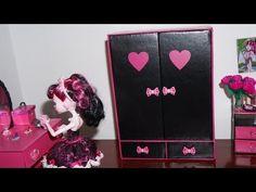Como fazer guarda-roupa #2 para boneca Monster High, Barbie e etc - YouTube