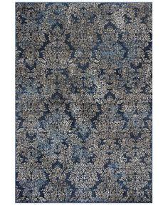 Kas Provence Blue/Beige Damask 7'10