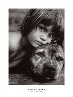 young girl with dog. credit: keith carter - pinning to use as an idea for a photo with our boxer