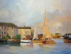 """Saatchi Art Artist Andres Vivo; Painting, """"Old schooner near La Rochelle Nº 3778"""" #art"""