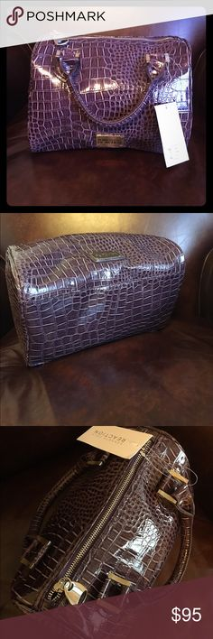 """NWT Kenneth Cole Reaction New Kenneth Cole Reaction Handbag on Grape purple. Faux patent leather. Measures 11"""" by 9"""" with a 6"""" base and 4"""" drop at the handle. Kenneth Cole Reaction Bags Satchels"""