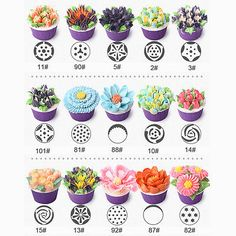 NEW Russian DIY Pastry Cake Icing Piping Decorating Nozzles Tips Baking Tool Fo… - Creative Cake Decorating Ideen Cake Decorating Piping, Creative Cake Decorating, Creative Cakes, Cookie Decorating, Cupcake Decorating Techniques, Cake Decorating Tools, Decorating Ideas, Frost Cupcakes, Flower Cupcakes
