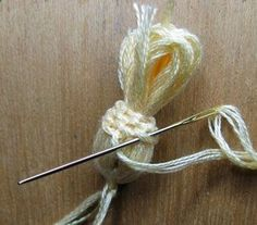 OR A SCOTCH THISTLE How to make a tassel