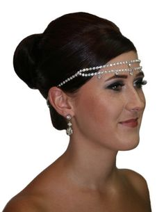 Handmade double strand crystal circlet tiara hair piece, finished in swarovski crystals, rhodium plated.  www.redki.com.au  Hair by Ultimate Bridal, Hair piece by Redki Wearable Art.