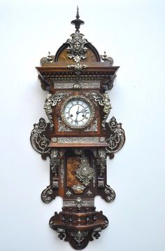 Balcony Wall Clock Gustav Becker  Rich Ornaments of Bronze