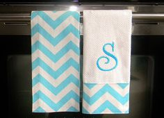 Monogrammed  Kitchen Towels or Hand Towels  in by DesignsByThem, $26.00