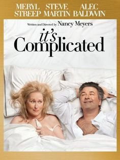 Rent It's Complicated starring Meryl Streep and Alec Baldwin on DVD and Blu-ray. Get unlimited DVD Movies & TV Shows delivered to your door with no late fees, ever. One month free trial! Good Movies To Watch, Great Movies, Awesome Movies, See Movie, Movie Tv, John Movie, Something's Gotta Give, Complicated Love, Amazon Instant Video