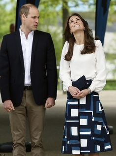 Kate was seen craning her neck to get a better view of the Arcelor Mittal Orbit at London's Olympic Park