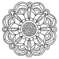 Mandala Floral #17