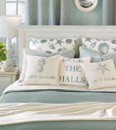 Ocean theme / Christmas pillows / perfect throw pillows for beach bedroom beach livingroom