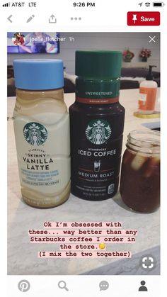 Starbucks iced coffee ideas - Recipes to try - Kaffee Bebidas Do Starbucks, Healthy Starbucks Drinks, Secret Starbucks Drinks, Starbucks Recipes, Starbucks Coffee, Healthy Drinks, Iced Coffee Recipes, Starbucks Calories, Healthy Iced Coffee