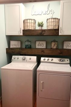 Below are the Farmhouse Laundry Room Storage Decoration Ideas. This post about Farmhouse Laundry Room Storage Decoration Ideas was posted … Laundry Room Remodel, Laundry Room Cabinets, Laundry Room Organization, Basement Laundry, Diy Cabinets, Laundry Closet Makeover, Laundry Organizer, Laundry Room Shelves, Basement Walls
