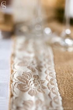 Lace and hessian a definite yes for a country wedding. Country Wedding Inspiration, Hessian, Weddingideas, Photo Credit, Lace, Racing