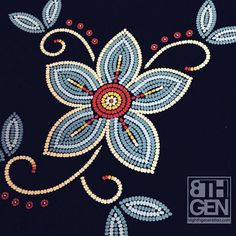 The Bandolier Anishinaabe artist Sarah Agaton Howes is an Inspired Native who is all about thriving - not simply surviving. If you agree, this organic cotton tote bag, w Native Beading Patterns, Beadwork Designs, Native Beadwork, Seed Bead Patterns, Native American Beadwork, Art Patterns, Color Patterns, Beaded Embroidery, Embroidery Patterns