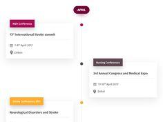 Medical Conference Calendar Timeline