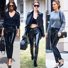 Bauchle Fashion: How To Wear Vinyl Pants Like A Fashion Expert Record Collection, Leather Pants, Platform, Fabric, How To Wear, Digital, Fashion, Leather Jogger Pants, Tejido