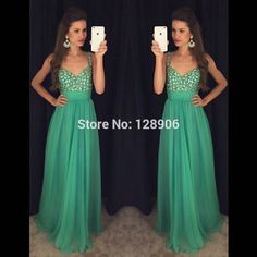 Find More Prom Dresses Information about Green Chiffon Prom Dresses 2016 Sexy Spaghetti Straps Beaded Stones Sweetheart Long Prom Gowns Backless Formal Evening Dress,High Quality dress sock,China dress party dress Suppliers, Cheap dresses paris from Babyzone on Aliexpress.com