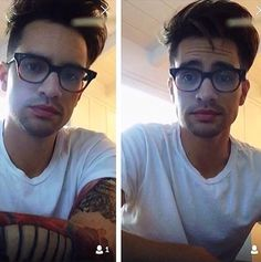 He looks insanely good in glasses