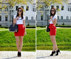 Peplum skirt.