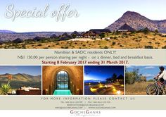 ☀ We hope you had a wonderful start into this week! Don't miss out our current special offer - Last chance! #africa #namibia #windhoek #safari #tourism #travel #khomas #nature #wellness #fitness #accommodation #tranquillity #lodge #wildlife #wilderness #adventure #experience #holiday #wanderlust