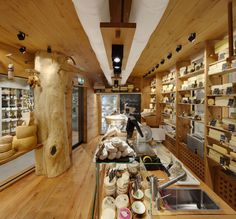 The food market boasts Switzerland's first cheese humidor, by Naturli
