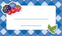 Jam label - forest fruits Befőzőcímke - erdei gyümölcs