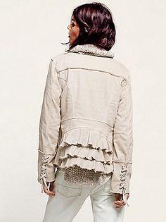 Ruffle twill jacket - free people