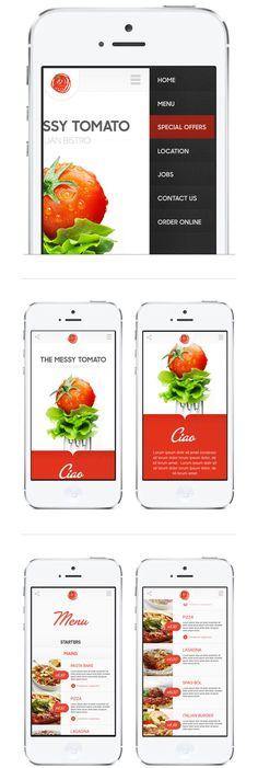 토마토의 신선함과  환한 백의 느낌이  돋보인다.