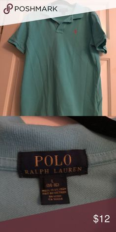 Light blue Polo Light blue polo size youth large fits a larger adult small lightly used Polo by Ralph Lauren Tops Tees - Short Sleeve