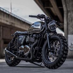 Lowdown and dirty Triumph T100 Scrambler by K-Speed Customs