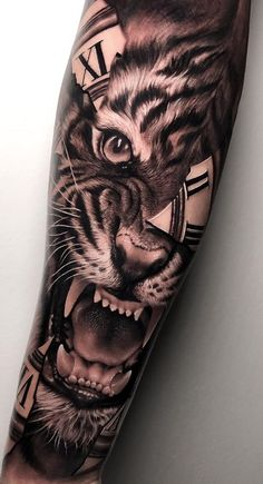 Here we gather some of best tattoo designs of last month. In this list you can find 25 amazing and creative tattoo patterns. 42 Tattoo, Tiger Tattoo Sleeve, Tattoo Diy, Tattoo Drawings, Sleeve Tattoos, Forearm Band Tattoos, Forarm Tattoos, Leg Tattoos, Tattoos For Guys