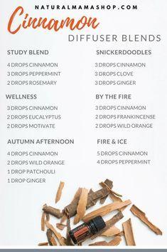 Cinnamon essential oil diffuser blends. #essentialoil #cinnamon