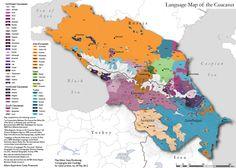language map of the caucasus