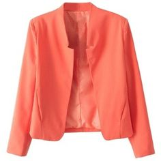 Red Trendy Ladies Slimming Candy Color Blazer