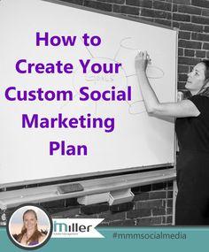 How to Create Your Custom Social Marketing Plan by mmmsocialmedia #diymarketing #mmmsocialmedia