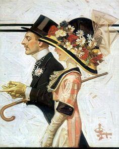 Joseph Christian Leyendecker  Cover: SEP April, 6 1912