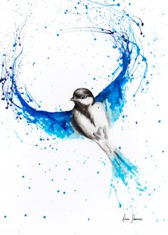 Drawing With Charcoal A bird artwork I created with charcoal and acrylics on paper. I try to express movement in all my artworks. Sold, but prints available on my Redbubble Board. Bird Painting Acrylic, Abstract Canvas Art, Watercolor Bird, Watercolor Animals, Watercolor Paintings, Painting Art, Abstract Animal Art, Bird Drawings, Animal Drawings