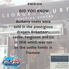 There was no Penneys in 1916 Waterford! Listen in to WLR across the day to learn more about shopping in Waterford in 1916 #WLR1916 #Waterford #shopping #Ireland1916 #documentary