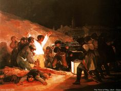 The Third Of May 1808 In Madrid The Executions on Principe Pio Hill 1814 Francisco Goya y Lucientes Spanish) Oil on canvas Museo del Prado Madrid Spain Canvas Art - Francisco de Goya Art History, Fine Art, Francisco Goya, Canvas Art, Art, Romanticism, Spanish Art, Spanish Artists, Goya Paintings