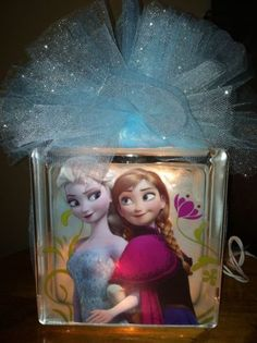 Frozen Glass Block Night Light. To order email me at jdhollenbeck10@gmail.com