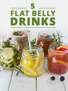 Sip your way to a flat belly with these 5 Flat Belly Drink Recipes! #flatbelly #flatbellydrinks