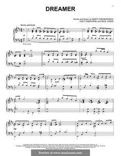 Dreamer: For piano by Ozzy Osbourne, Martin Frederiksen, Mick Jones