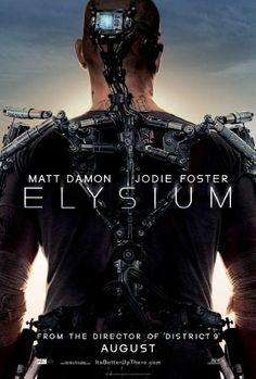 Elysium poster starring Matt Damon