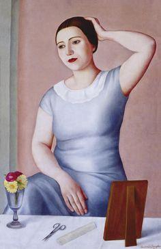Antonio Donghi - Donna alla Toletta, 1930