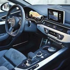 """Audi A4 interior Via @carinterior _ ©Auditography"""
