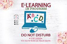 E-learning in progress, Virtual teaching, E-class, Virtual school, Virtual classroom, Teachers, Teaching , Teach , School, School svg, Mailbox Monogram, Monogram Frame, Cd Design, Teaching Math, Journal Cards, Teacher Appreciation, School Design, Pro Version, Design Bundles
